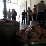 تصویری/بازدید امام جمعه و شهردار از ذبح اطعام 14000 نفری