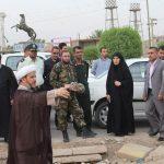 گزارش تصویری/بررسی و جانمایی تدفین سه شهید گمنام در شهرستان کارون