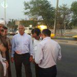 بازدید امام جمعه کارون و شهردار کوت عبدالله از پل ششم