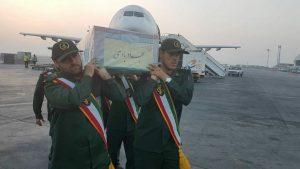 استقبال از شهید مدافع حرم سجاد باوی در فرودگاه اهواز