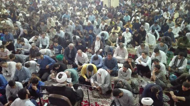 مراسم دعای عرفه در شهرستان کارون برگزار شد