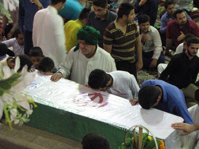 مراسم دعای عرفه باحضور شهدای گمنام درشهرستان کارون برگزار شد