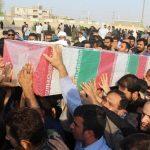 تشییع پیکر شهید مدافع حرم سجاد باوی در شهرستان کارون