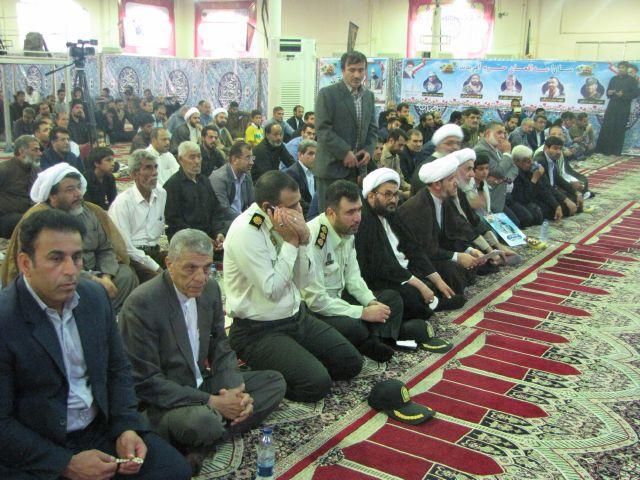 مراسم چهلمین روز شهادت سجاد باوی در شهرستان کارون برگزار شد
