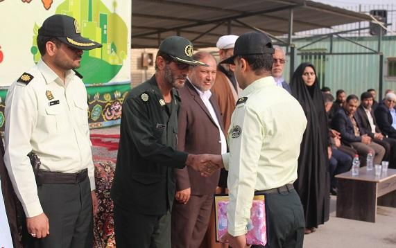 صبحگاه مشترک نیروهای انتظامی و نظامی شهرستان کارون