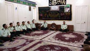 دیدار فرمانده و جمعی از پرسنل نیروی انتظامی شهرستان با امام جمعه کارون