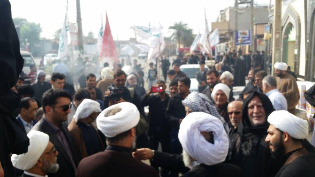 بدرقه موکب انصار الحسین(ع) در شهرستان کارون