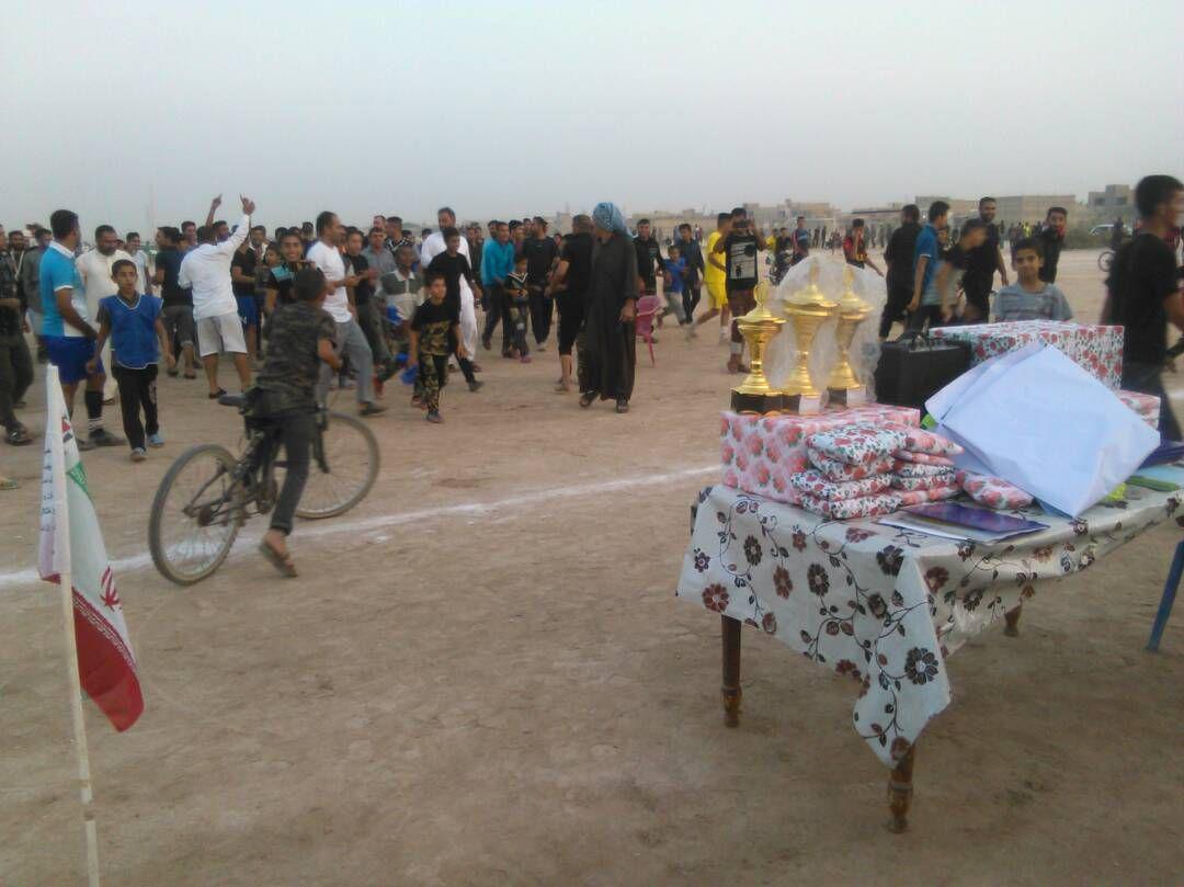 اختتامیه مسابقات فوتبال گرامیداشت شهدای مدافع حرم شهرستان کارون