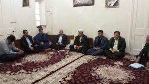 دیدار اعضای شورای اسلامی بخش مرکزی و بخش سویسه کارون با امام جمعه