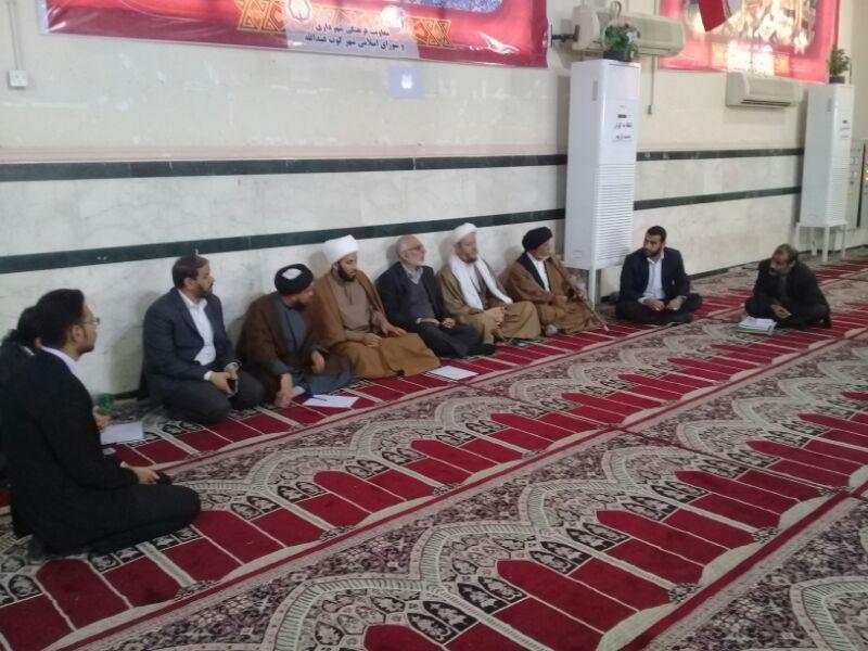 جلسه مدیر بنیادفرهنگی حضرت مهدی موعود(عج)خوزستان با امام جمعه کارون برگزار شد.