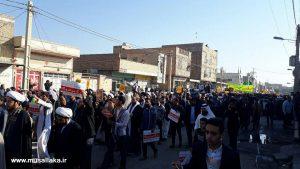 گزارش تصویری/راهپیمایی ضد استکباری و حمایت از قدس در کوی علوی