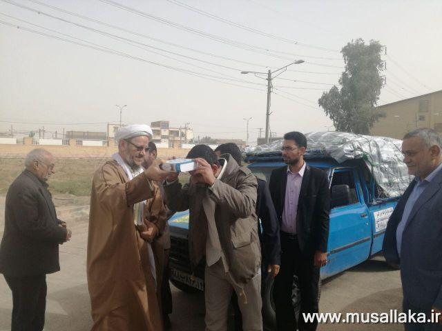 ارسال سومین محموله کمک های مردمی شهرستان کارون به مناطق زلزله زده کرمانشاه