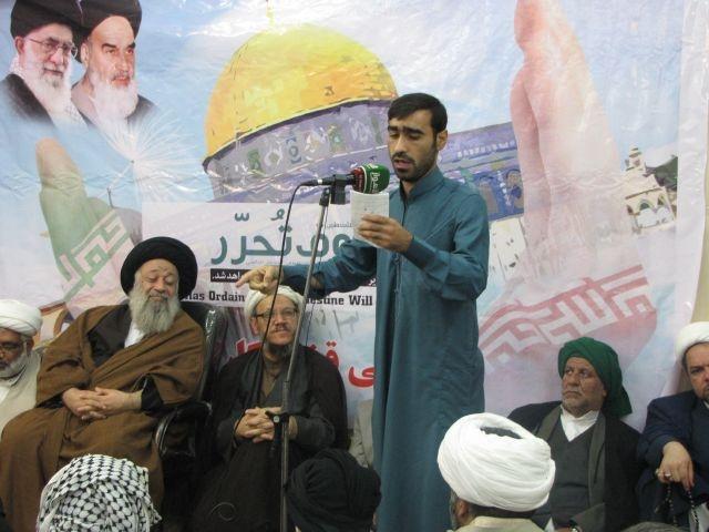اعلام آمادگی سران عشایر،روحانیت،نخبگان و اهالی شهرستان کارون در دفاع از قدس