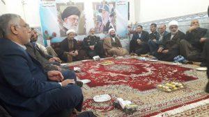 دیدار امام جمعه ومسئولین شهرستان کارون با سردار خادم سید الشهداء