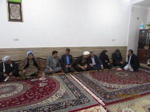 گزارش تصویری/حضور امام جمعه در مراسم فاتحه برادر شهید گله