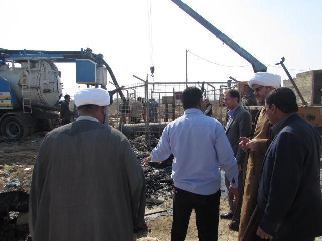 گزارش تصویری/ بازدید امام جمعه کارون از پروژه بزرگ فاضلاب شهرستان