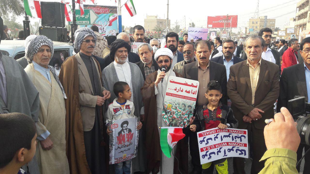 گزارش تصویر/راهپیمایی 22 بهمن درشهرستان کارون با حضور گسترده مردم برگزار شد