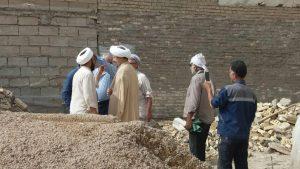 گزارش تصویری/بازدید امام جمعه کارو از مدسه درحال ساخت اسلام آباد