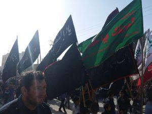 گزارش تصویری/حرکت دسته های عزادار شهادت حضرت فاطمه(س)
