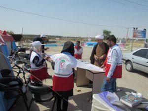 بازدید امام جمعه کارون از ایستگاههای خدمات رسانی به میهمانان نوروزی