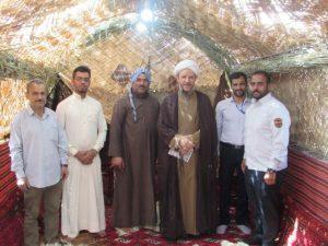 گزارش تصویری/بازدید امام جمعه کارون از مضیف عربی پذیرایی از مهمانان نوروزی