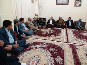 گزارش تصویری/دیدار مدیران و روسای دستگاههای اجرایی شهرستان با امام جمعه کارون