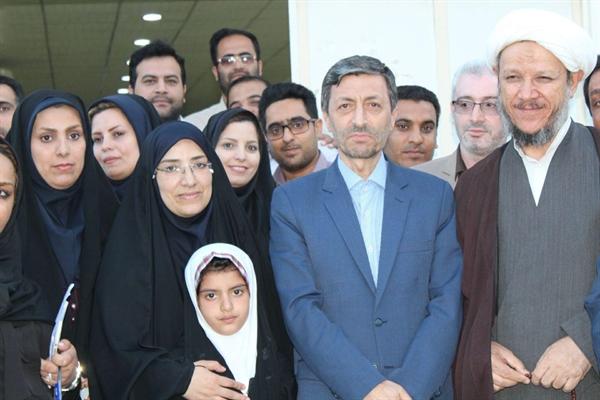 حضور امام جمعه کارون در استقبال از مسئول کمیته امداد کشور