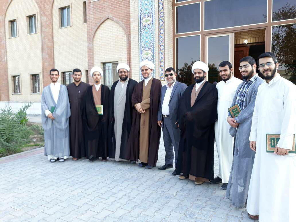 دیدار امام جمعه کارون باطلاب و مسئولین حوزه علمیه امام خمینی(ره) نجف
