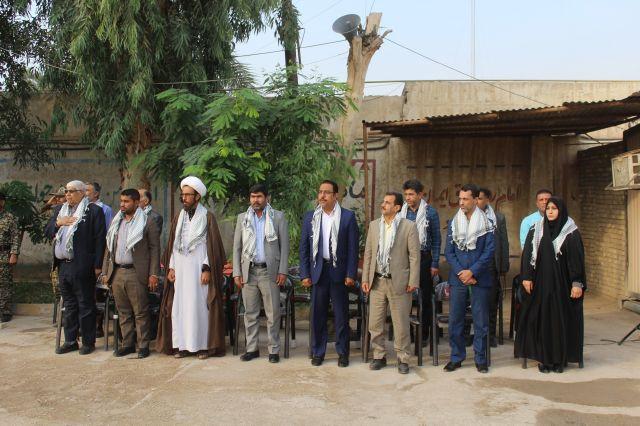 صبحگاه مشترک نیروهای مسلح در شهرستان کارون برگزار شد.