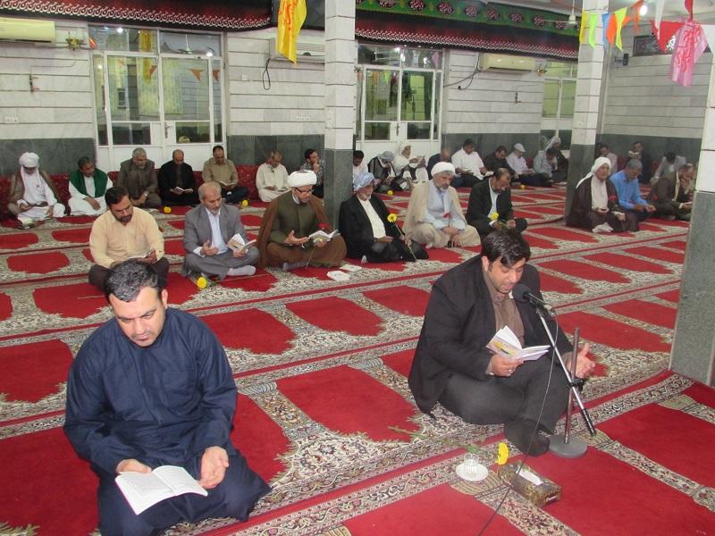 دعای ندبه به مناسبت میلاد امام زمان(عج) در حسینه سجادیه برگزار شد