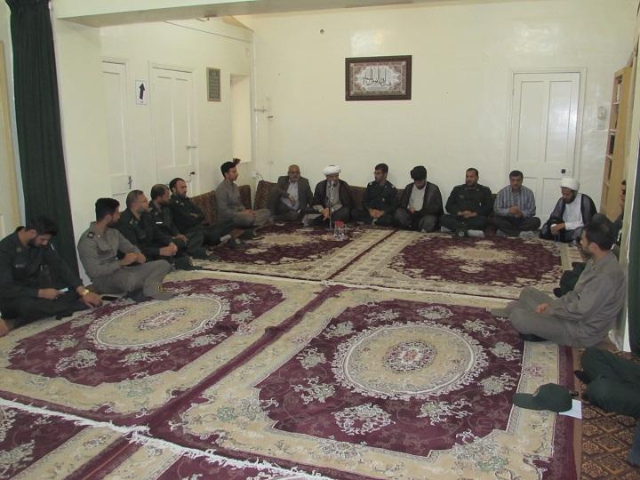 دیدار مسئولین سپاه با امام جمعه کارون به مناسبت هفته عقیدتی در سپاه