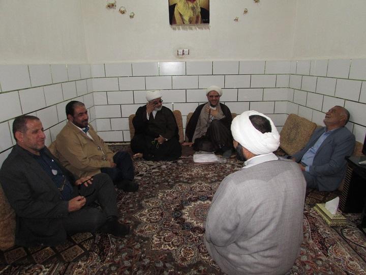 دیدار امام جمعه کارون با روحانیون شهرستان به مناسبت اعیاد مبارک شعبانیه