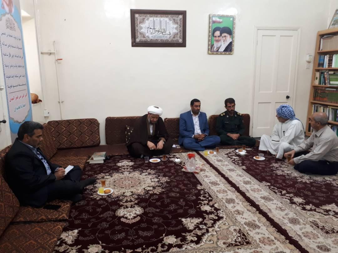 دیدار مسئول جدید اداره آموزش وپرورش کارون با امام جمعه شهرستان کارون