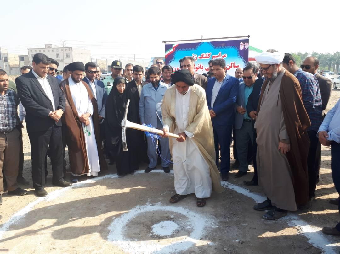 گزارش تصویری/مراسم کلنگ زنی احداث سالن ورزشی چند منظوره قلعه چنعان