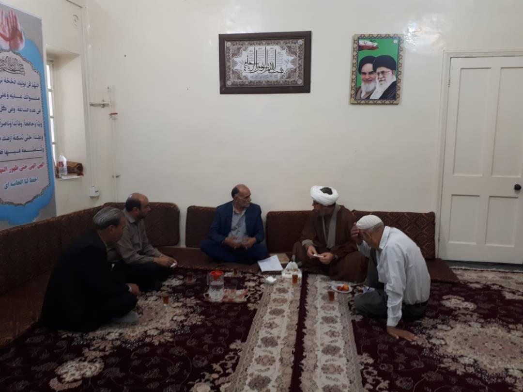 دیدار مسئول بنیاد شهید کارون با امام جمعه کارون