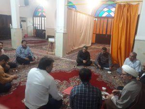 دیدار امام جمعه کارون با هیئت رزمندگان گردان امام رضا(ع)شهرستان