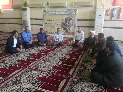 بازدید امام جمعه کارون و مسئولین صنایع فولاد از مصلی نمازجمعه