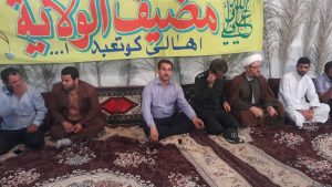 گزارش تصویری/حضور امام جمعه کارون در موکب غدیر