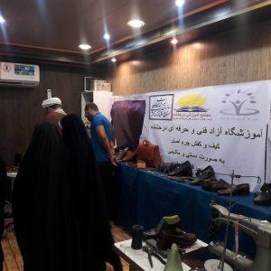 گزارش تصویری/بازدیدامام جمعه کارون از نمایشگاه کار افرینی شهرستان