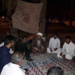 حضور امام جمعه کارون در محل پخت 14 هزارنفری شهرستان