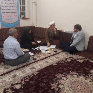 دیدار فرماندار و معاونت عمرانی شهری با امام جمعه کارون