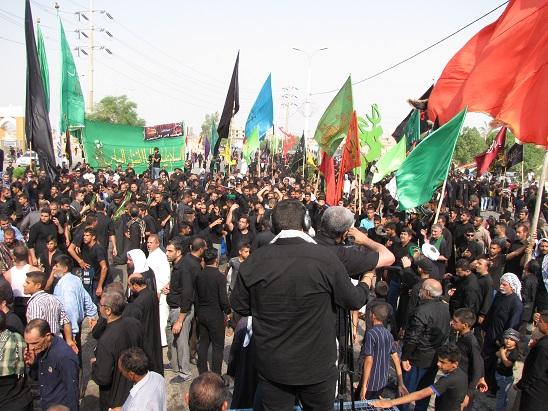 تاسوعای حسینی در شهرستان کارون برگزار شد.
