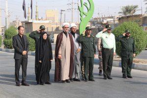 صبحگاه مشترک نیروهای مسلح شهرستان کارون برگزار شد+تصاویر