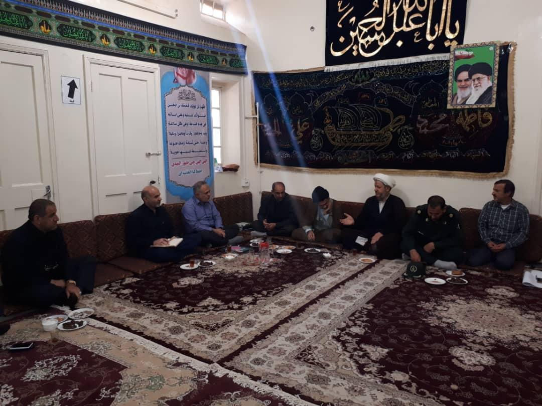مراسم تودیع و معارفه مسئول عتبات عالیات شهرستان کارون برگزار شد