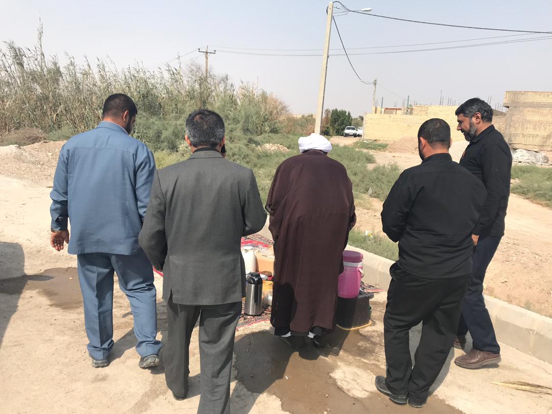 بازدید امام جمعه کارون از ساده ترین موکب در مرز شلمچه