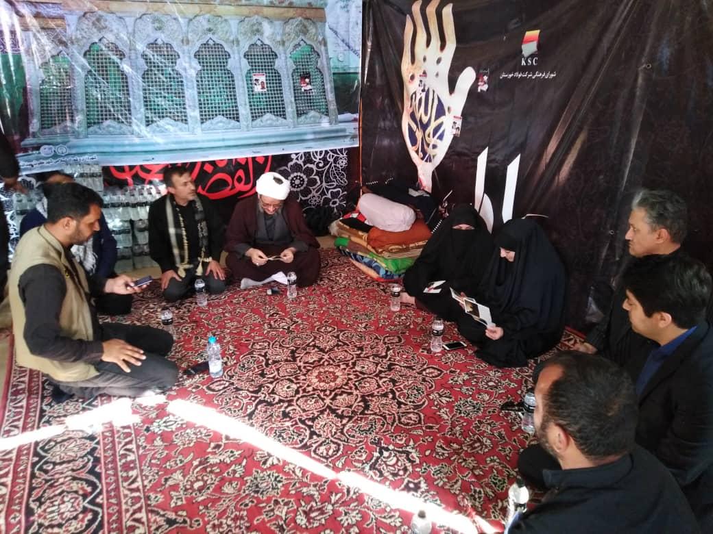 گزارش تصویری/بازدید امام جمعه و فرماندار از مواکب شهرستان کارون