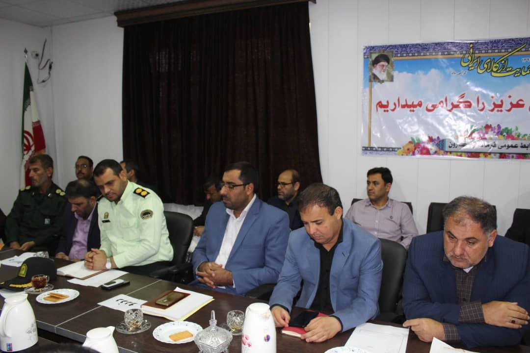 جلسه شورای اداری شهرستان کارون با حضور امام جمعه کارون برگزار شد