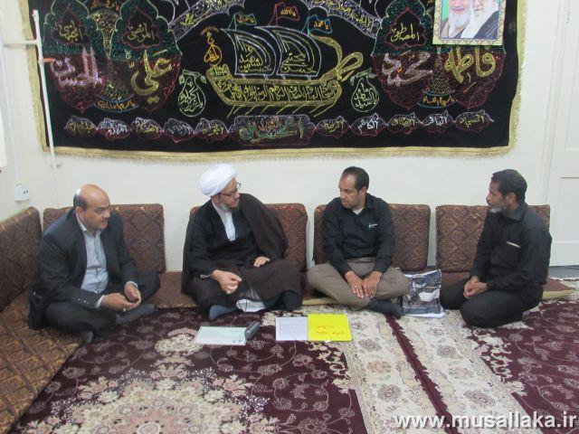 دیدار هیئت فوتبال و مسئولین ورزش شهرستان کارون با امام جمعه