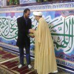 گزارش تصویری/تجلیل از طارق زرگانی در نماز جمعه این هفته