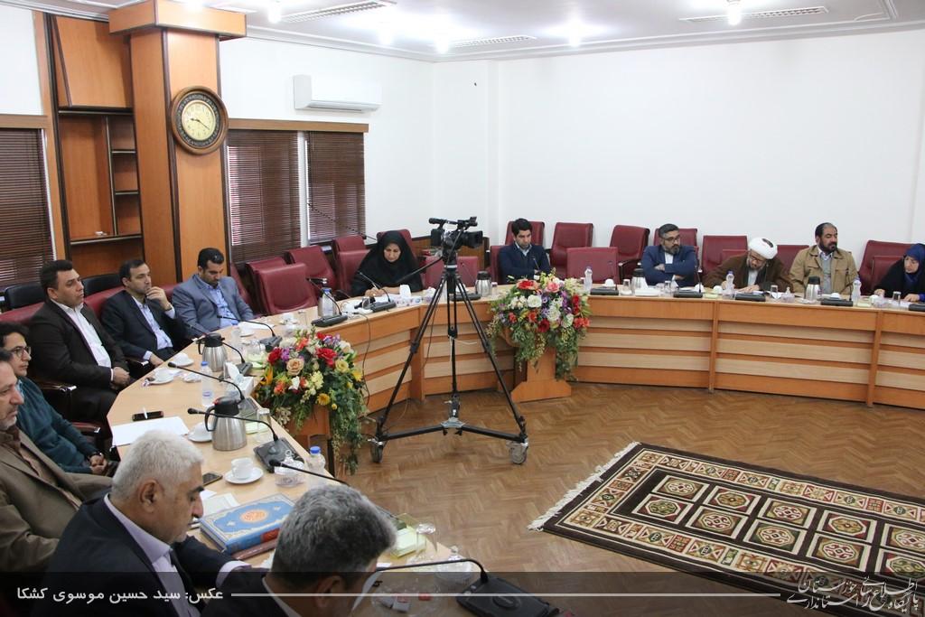 گزارش تصویری/شورای هماهنگی حفظ آثار و نشر ارزش های دفاع مقدس با حضور امام جمعه کارون